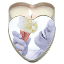 Vanilla Heart Shaped Massage Candle ~ EB-HSCK002