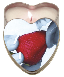 Strawberry Heart Shaped Massage Candle ~ EB-HSCK003