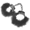 Black Feather Love Cuffs ~ PD3806-23